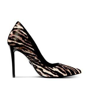 michael kors keke zebra pointy pumps heels shoes